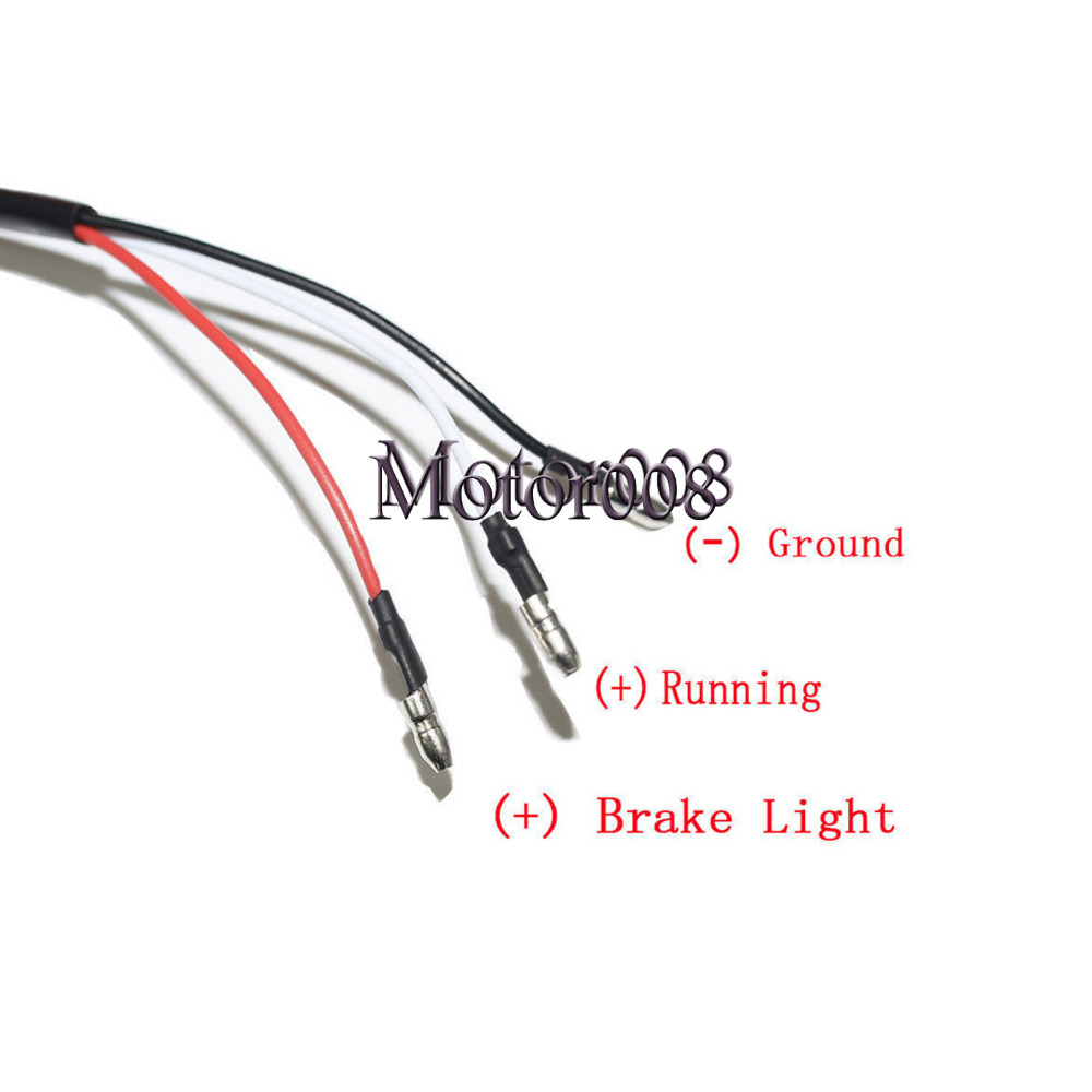 Motorcycle Red Led 3 Wires Chrome Bullet Mini Turn Signal Running Pink LED  Led Has 3 Wires