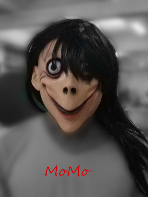 Momo Challenge Mask Scary Halloween Blue Whale Game TERRIFYING Masks