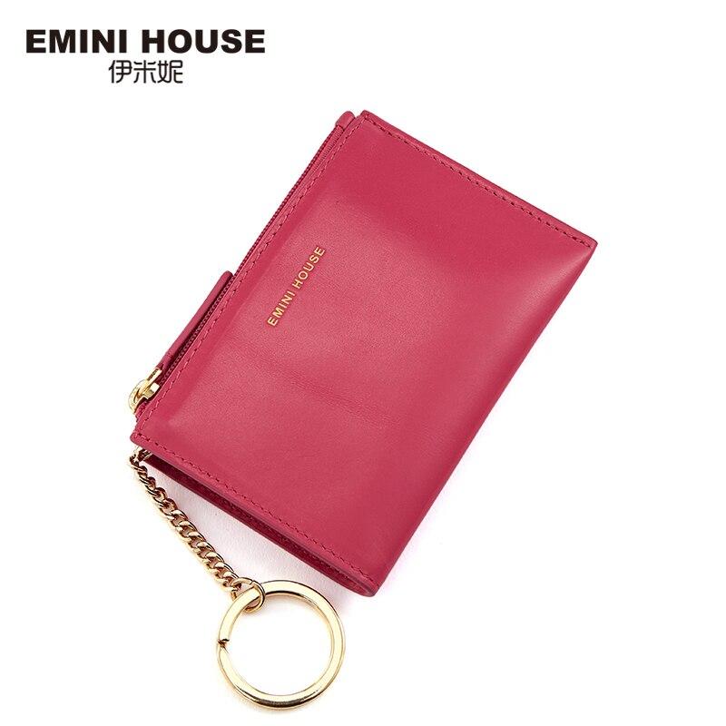 EMINI maison mode en cuir véritable porte-monnaie Zipper portefeuille Mini sac pour femmes Mini sac court portefeuille pratique porte-monnaie