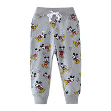 Boys Pants Baby Cartoon Cute Mouse Printed Cotton Full Length Trousers for Girls Kids Sweatpants