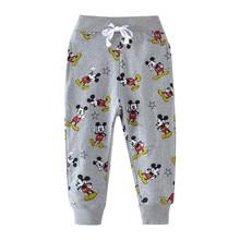все цены на Boys Pants Baby Boys Cartoon Cute Mouse Printed Cotton Full Length Trousers Pants for Baby Boys Girls Pants Kids Sweatpants онлайн