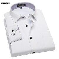 PaulJones BNxxx Plus size 5XL Lange Mouw Formele Jurk Thermische Man Winter Shirts Fluwelen Dikker Vintage Chiness Merk Mannen Blouse