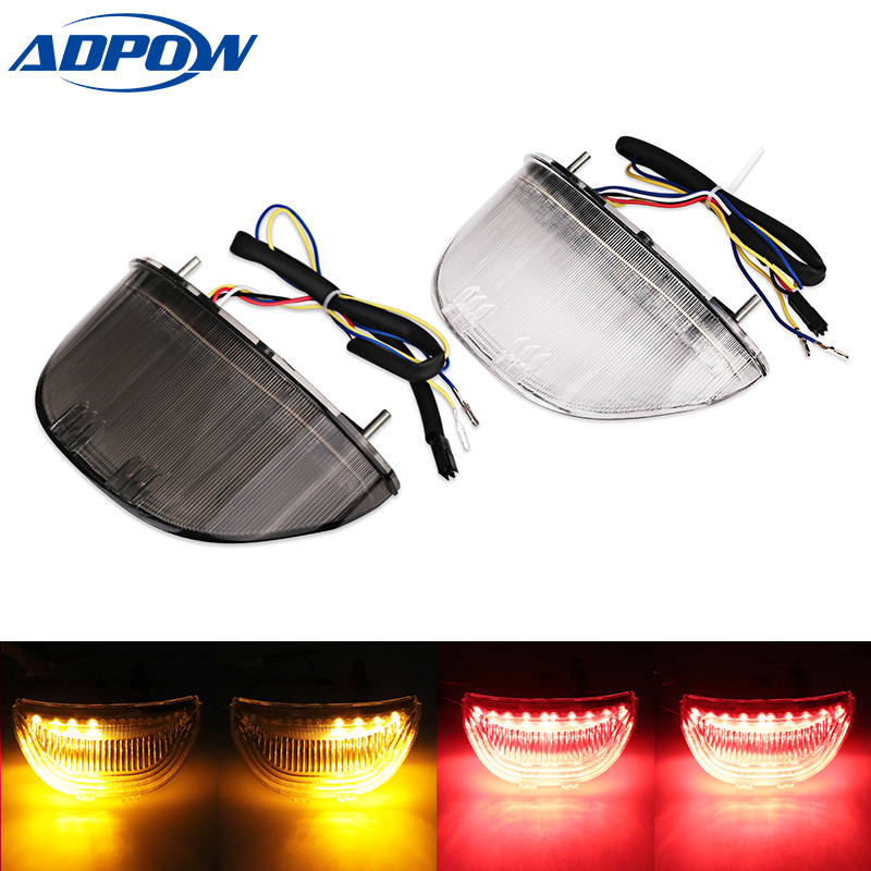 Motorcycle Integrated LED Turn Signals Tail Light For Honda CBR 600 RR CBR600RR 2003 2004 2005 2006 CBR1000RR 04-07 motorcycle radiator for honda cbr600rr 2003 2004 2005 2006 aluminum water cooler cooling kit
