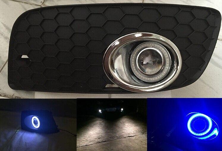 Cob ангел глаз DRL дневного света + галогеновые противотуманные фары + объектив проектора + противотуманные фары крышка для Volkswagen Фольксваген сагитар ГТИ, 2шт