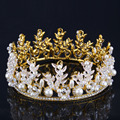 2016 nova Fahion casamento nupcial acessórios de cabelo sparkly cristal tiara do Vintage da coroa grande mulheres acessórios de cabelo