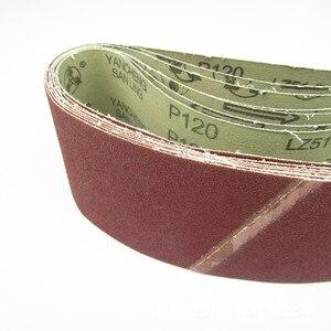 "Image 4 - 5 pcs 75*533mm Sanding Belts 533*75mm Band 3"" 21"" Screen With Grit 40 to 600 Soft Cloth For Belt Sander"