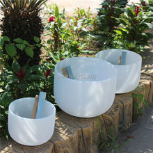 8 10 12  3pcs frosted crystal singing bowls with any note C D E F G A B or any Chakra of 7 artur g joseph llavor d or