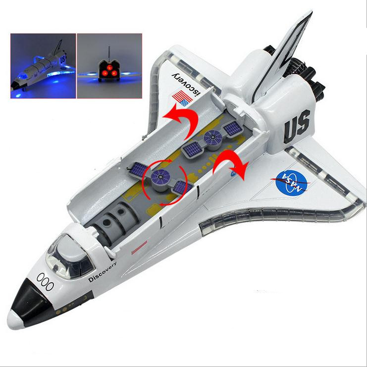 High simulation space shuttle model, 1: 100 alloy pull back Columbia shuttle, metal cast,music flash plane toy, free shipping