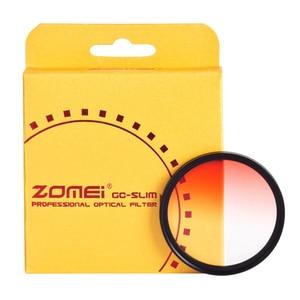 Image 3 - Zomei Camera Filtro Ultra Slim Frame GND Gradula Color Filters Blue Grey Red Orange 49 55 58 62 67 72 77 82mm For DSLR Camera