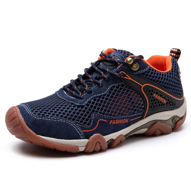 Verano primavera zapatos de senderismo hombres deporte al aire libre zapatillas hombres montaña escalada zapatos transpirables antideslizantes zapatos de escalada en roca