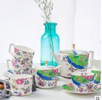 2018 новый Костяной фарфор 15 Кофе s Европейский стиль костяного фарфора кофейное блюдце комплект английский послеобеденный чай комплект