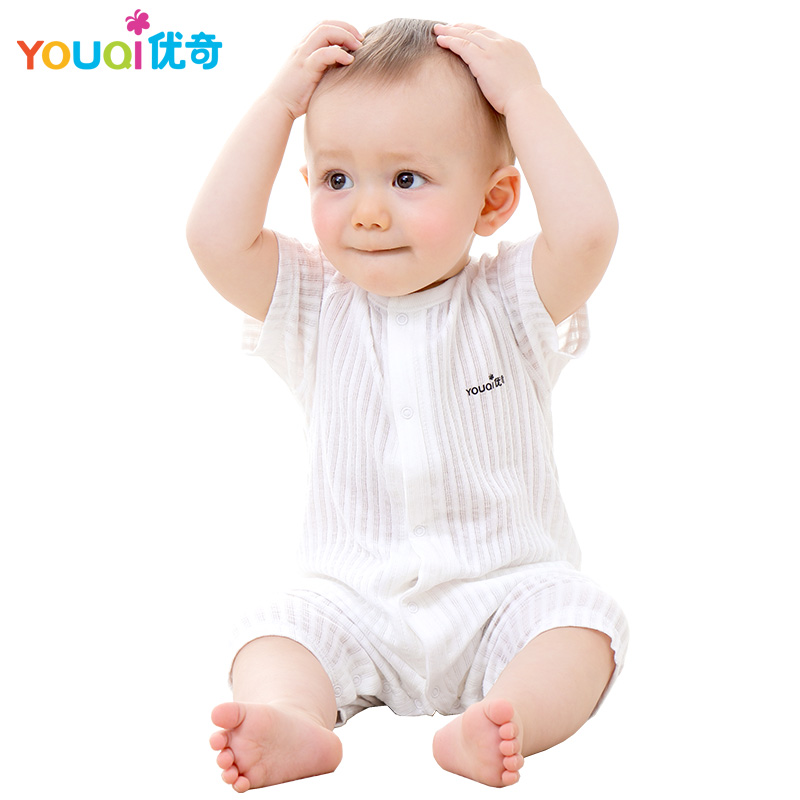youqi thin summer baby clothing set cotton t shirt pants vest suit baby boys girls clothes 3 6 to 24 months cute brand costumes YOUQI Summer Baby Rompers White Baby Girl Clothes Unisex Jumpsuit 3 6 18 Months Toddler Infant Pajamas Clothing Brand Costumes