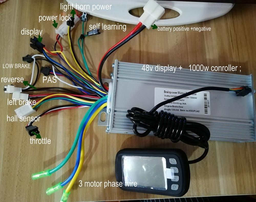 24v36v48v400W 1000w BLDC sensor/sensorless motor controller &LCD ...