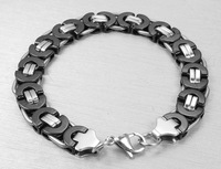2017 Europe And The United States Jewelry Trendy Men Bracelet Fashion Stainless Steel Male Black Silver