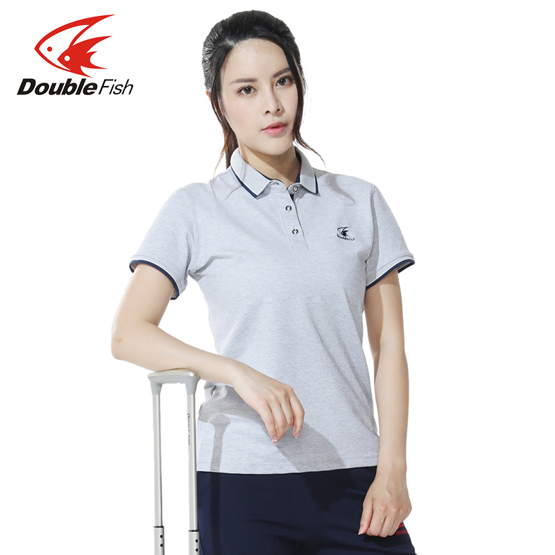 Double Fish Table Men Women Tennis Shirts Clothes Table Tennis TShirt Female Sports Solid Shirt Short Sleeve Breathable Fast Dry