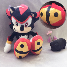 Black Sonic The Hedgehog 28cm Plush Leksaker Doll Peluche Dolls Anime Leksaker Presenter För Barn Gratis frakt