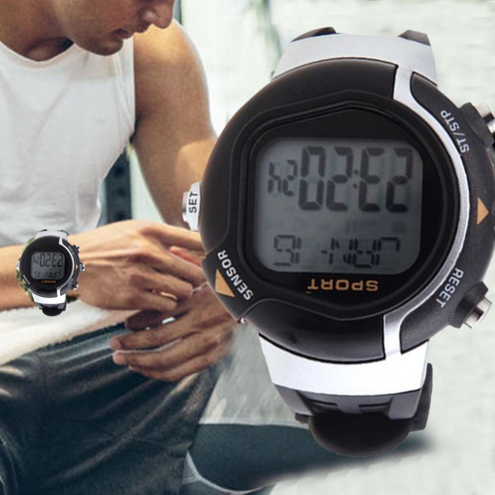 Men Sports Watches Heart Rate Monitor Pulse Heart Rate Counter Calories Monitor Sphygmograph Pulsometer Pulse Wave Watch Relojes