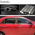 Автомобиль из нержавеющей стали Стекло окно гарнир столб средней колонны полосы отделка для Toyota Corolla Altis 2008 2009 2010 2011 2012 2013