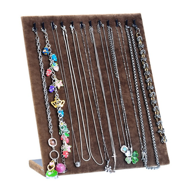 FUNIQUE Fashion Flannel Necklace Display Stand Jewelry Organizer