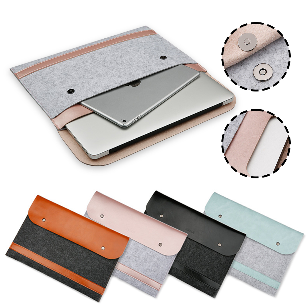 Liner Ultra Thin Leather Sleeve Bag Case For Apple Macbook Air Pro Retina 11 12 13 15 Laptop Anti-scratch For Mac book 13.3 inch retro envelope leather laptop bag for macbook pro 13 15 retina for mac book air 11 13 inch notebook case handbag for men women