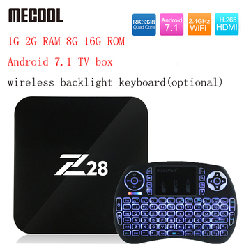 Z28 Android 7.1 TV box 1G 2G RAM 8G 16G ROM RK3328 Quad core 2.4GHz WiFi H.265 HDMI Smart Set Top Box Media Player PK X96 A95X