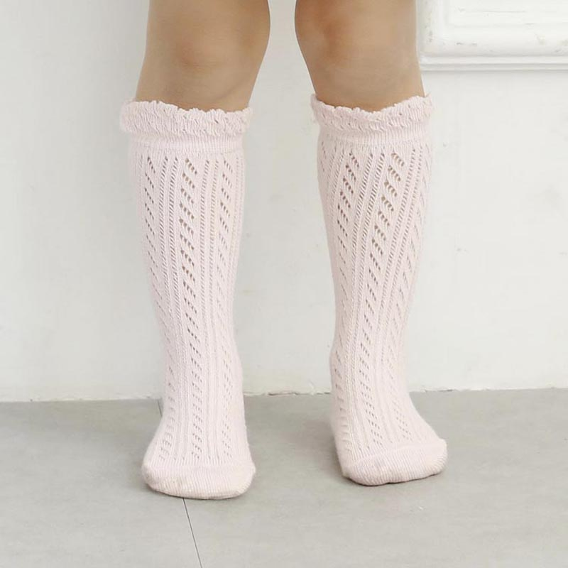 Sweet Newborn Baby Girl Socks Cotton Summer Infant Baby Knee High Socks for 0-6 Years 1 Pair Mesh breathable Socks Cotton New все цены