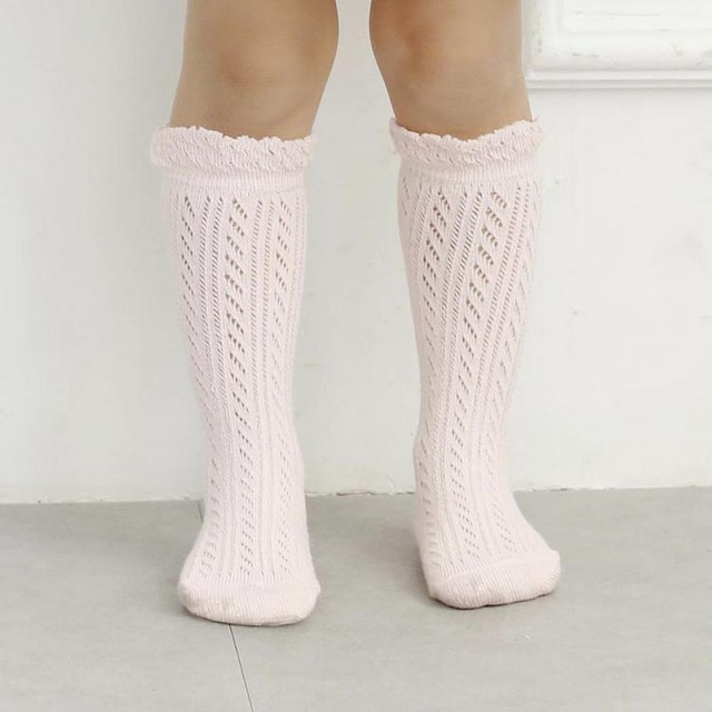 Sweet Newborn Baby Girl Socks Cotton Summer Infant Baby Knee High