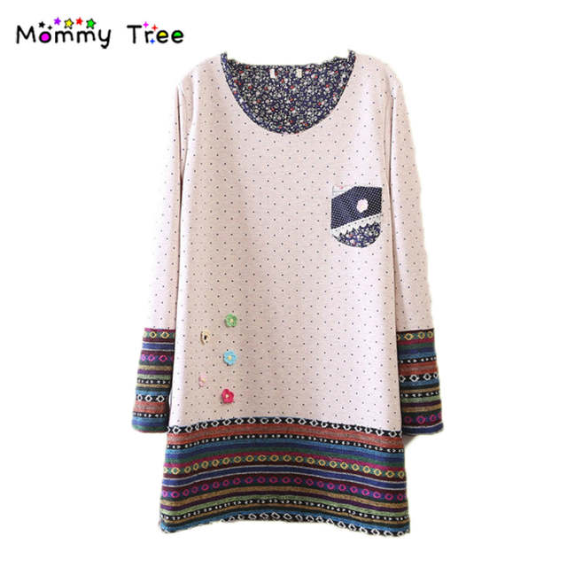 7478693523 Online Shop 2 Color Cute Dot Maternity Dresses for Pregnant Women Winter  Spring Pregnancy Clothes Korean Maternity Sweaters for Premama