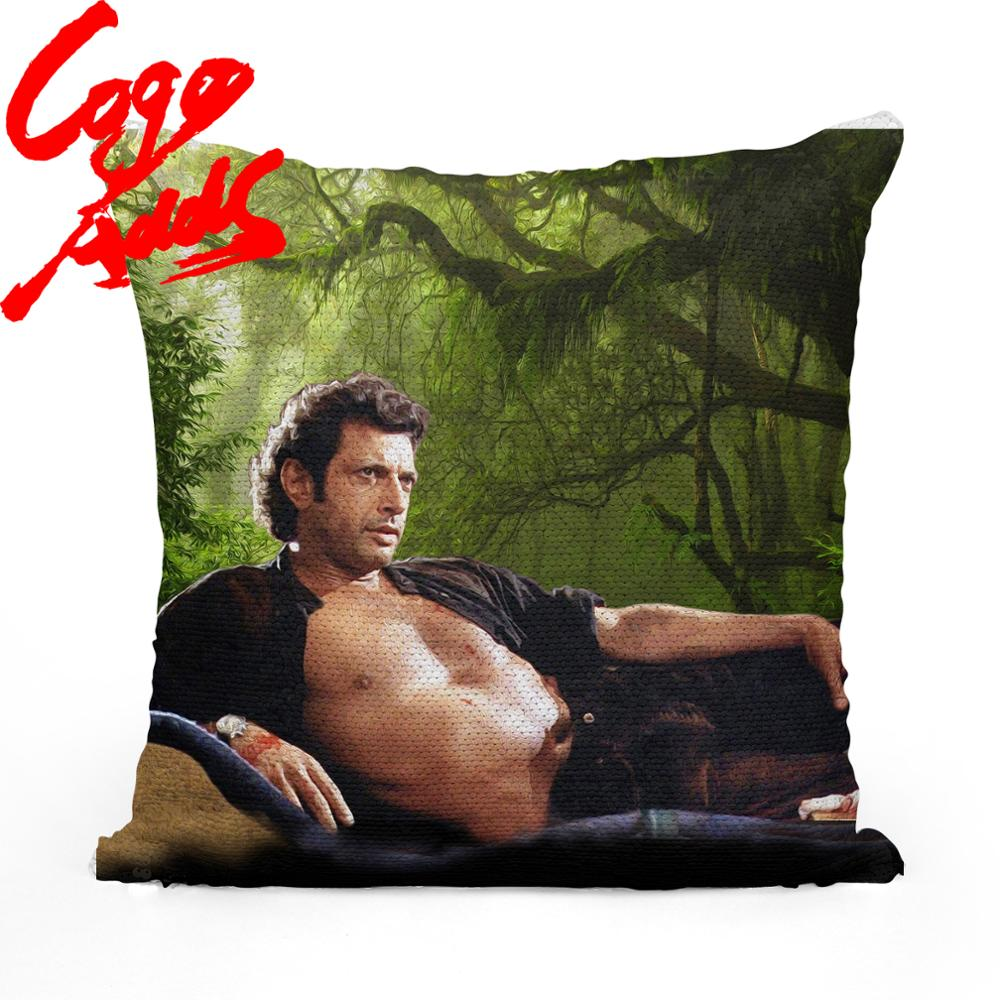 jeff goldblum topless sequin pillow sequin pillowcase two color pillow gift for her gift for him pillow magic pillow