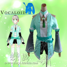 Neue Vocaloid Hatsune Miku Yan Er Cosplay Coat + Shirt + Pants + Kragen + Gürtel + Ärmel(China)
