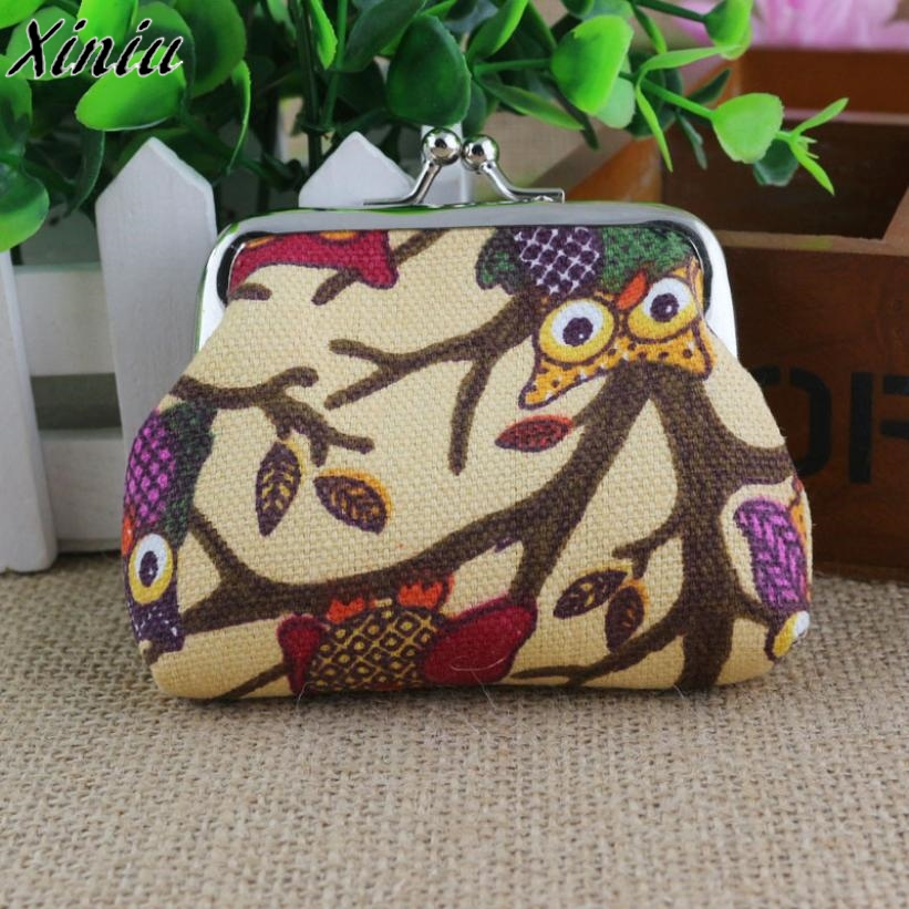 Women Lovely Coin Purse Owl Cartoon Printing Hasp Small Wallet Girl Small Fresh Change Bag Clutch Monederos Mujer Monedas #1207
