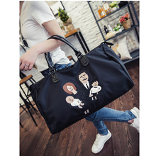 Family Travel Bags Oxford Waterproof Weekendtas Fashion Cartoon Embroidery Luggage Packing Cubes Weekender Traveling Bag