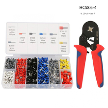цена на New Multi-functional Wire cable Crimper Set Crimping Pliers 0.25-10mm2 HCS8.6-4 Tube Type Terminal Crimping Tool