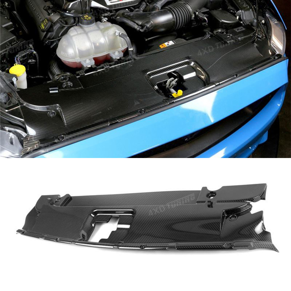 1:1 Replacement Style For Ford Mustang Carbon Fiber Front Cooling Plate Panel car Front Bumper Cooling Radiator styling 2015 -UP стоимость