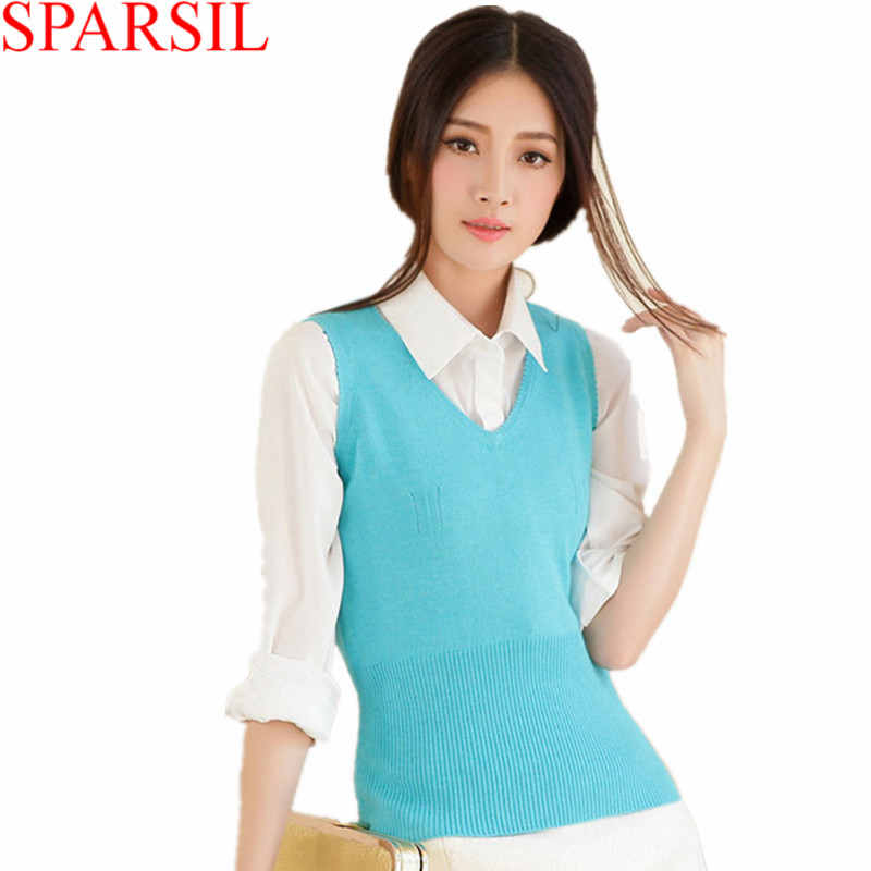 V Neck Sweater Vest Women 102