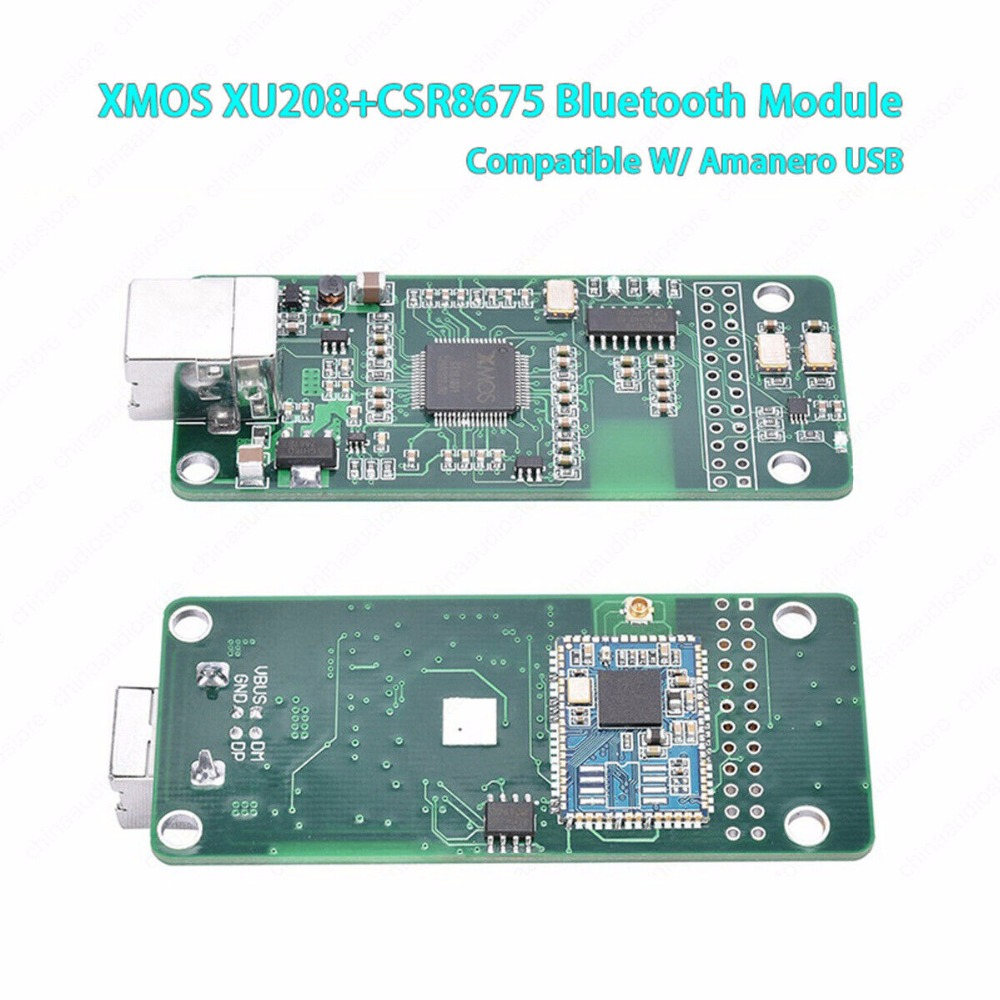 US $55 1 5% OFF|2019 XMOS XU208 Asynchronous USB Module W/ CR8675 Bluetooth  5 0 APTX USB Interface For DSD DAC AK4497 ES9083 Compatible Amanero-in