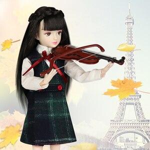 Image 5 - Poupée glacée DBS, xiaojing, poupée détudiant, corps commun bjd, cheveux noirs, chaussures duniforme scolaire, 25cm