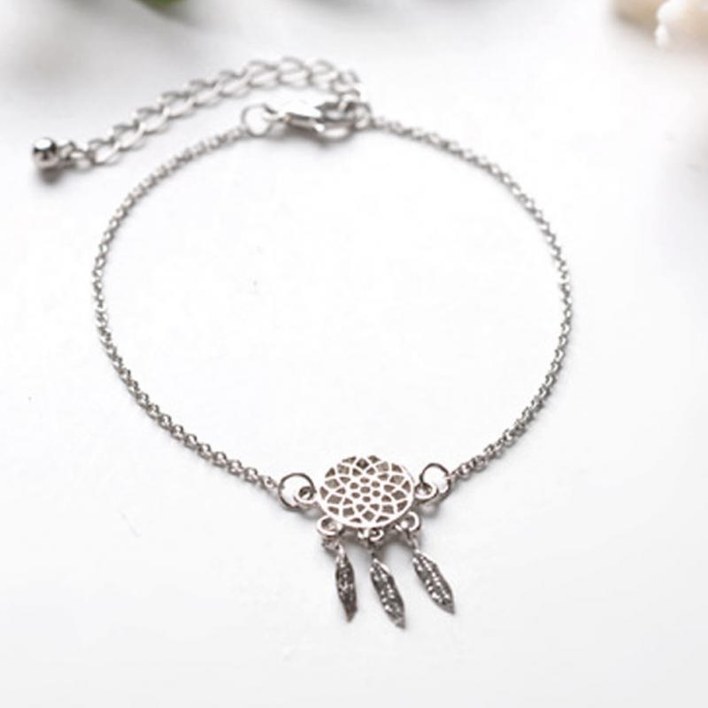 Fashion Gold Silver Plated Dreamcatcher Charm Bracelets For Women Extraordinary Dream Catcher Gold Bracelet