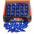 Blox Wheel Nut With Spikes Forged Aluminum Spiked Wheel Lug Nut Blue Color M12XP1.5 Racing Car Locking Nut
