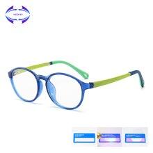 VCKA детей TR90 силиконовая оправа для очков ультра светильник очки дети анти-синий светильник мальчик девочка компьютерная игра защитные очки