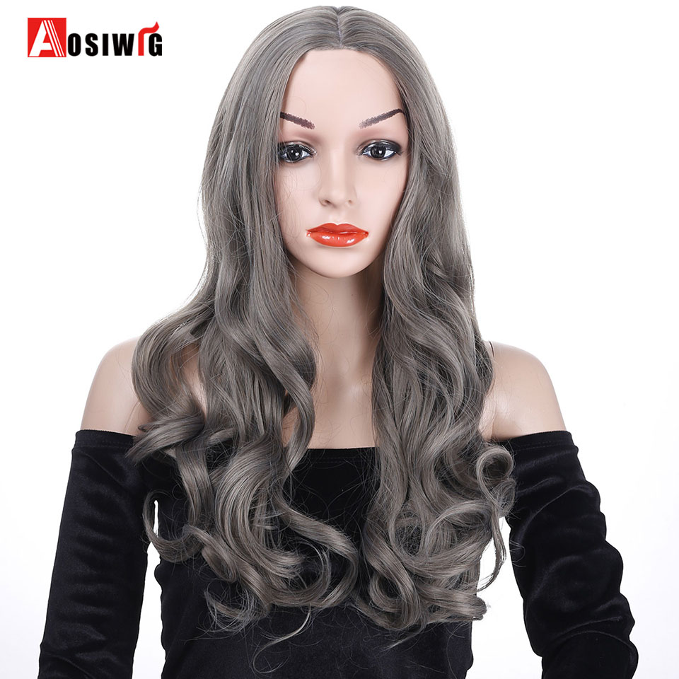 Synthetic Hair 6 Colors Long Wavy Wig Costumes Party High Temperature Fiber Cosplay Wig For Women AOSIWIG