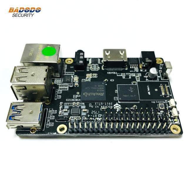 US $56 59 10% OFF|ROCK64 PINE64 HDR Media Board Computer Quad Core+ 2GB  LPDDR3 eMMC module socket android Linux development board demo board-in