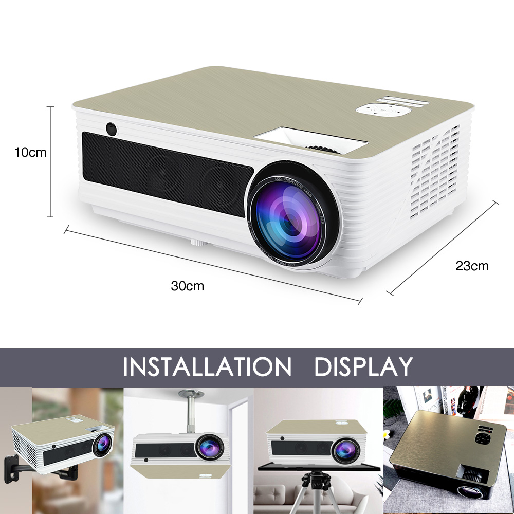 Poner Saund Full Hd New Mini Projector Proyector Led Lcd: Poner Saund M5 Full HD LED Projector 4500 Lumens Optional