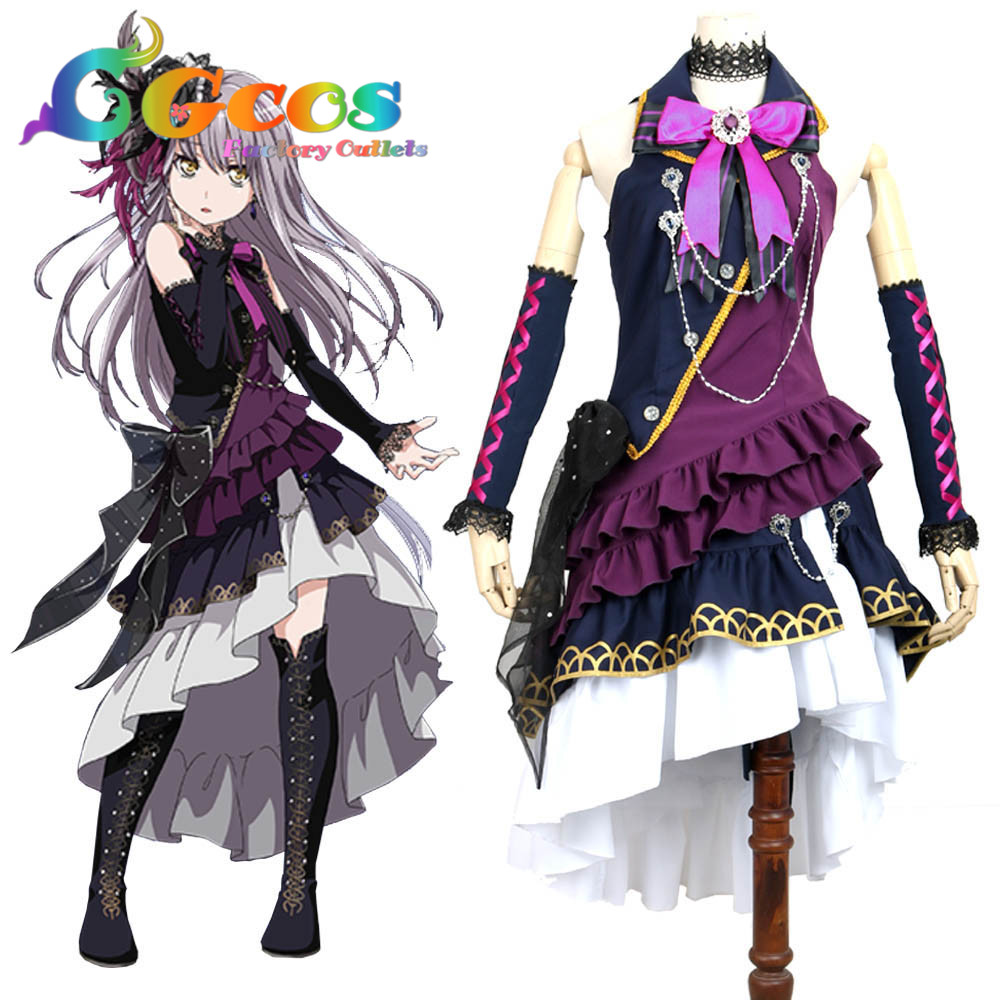 CGCOS Free Shipping Cosplay Costume COS BanG Dream ! BLACK SHOUT ...