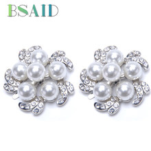 BSAID 1 Pair Crystal Flower Decorations For Women Shoes Rhinestone Faux  Pearl Floral Charms Shoe Buckle Clips Shoe Accessories 8ed5842e897e