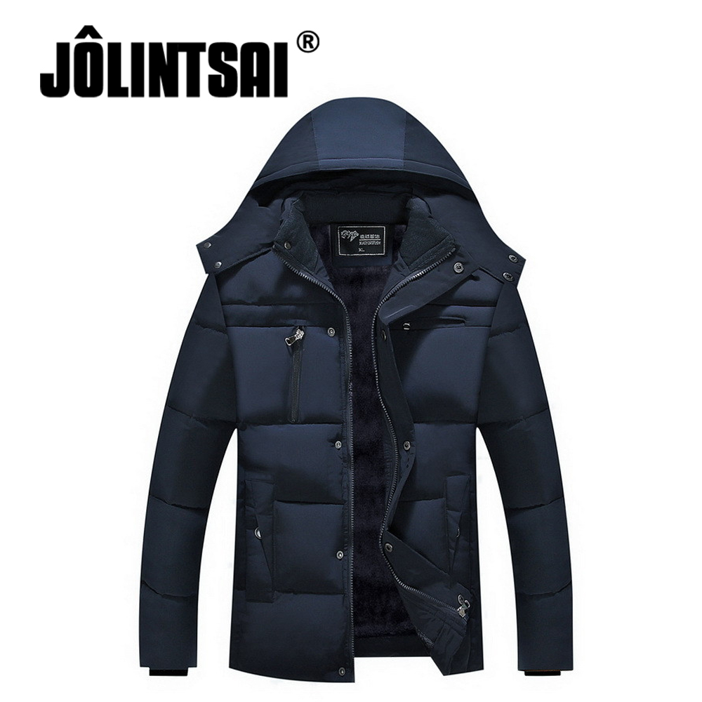 Brand 2017 Winter Male Jacket Casual Parkas Men Loose Hooded Coat Gift For Father Winter Jacket Men Cotton Padded Outwear XXXXL