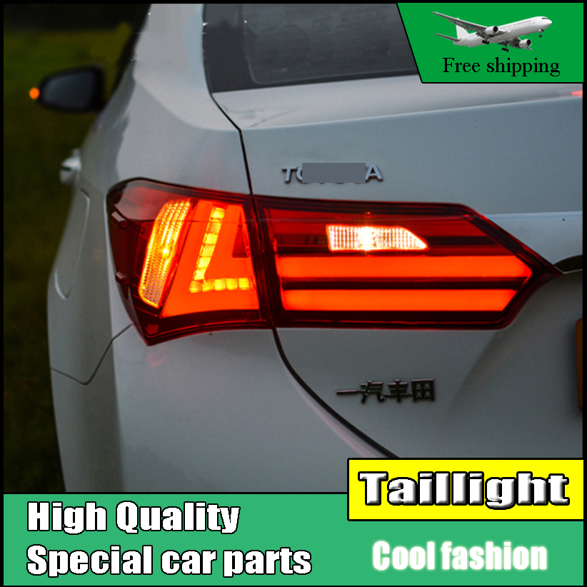 Car Styling Tail Lights For Toyota Corolla Altis 2014-2016 Taillights LED Tail Light Rear Lamp DRL+Brake+Signal Auto Accessories car styling tail lights for toyota corolla 2011 2013 taillights led tail lamp rear trunk lamp cover drl signal brake reverse