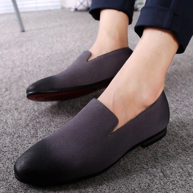 Mariage Zapatos Hombre Noir Chaussures gris Oxford Robe Sapato Masculino Glissent chocolat Reniflard Pour bleu De Mocassins Casual Sur 2018 Hommes Formelle zpqawWTy8
