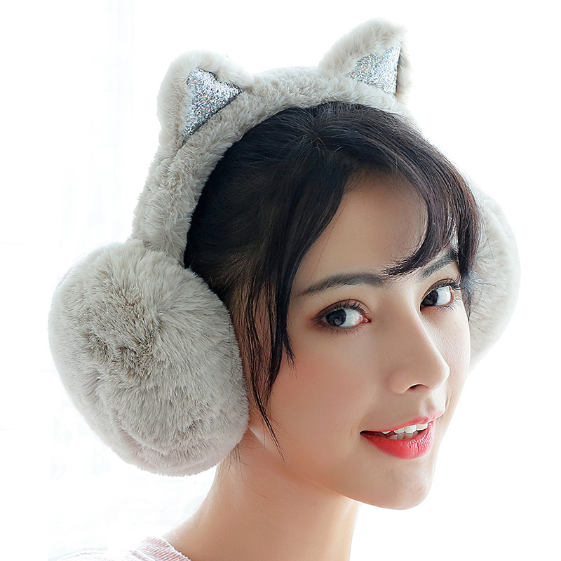 New Fashion Cute Ears Plush Earmuffs Comfortable Warm Earmuff Female Winter Outdoor Protect Ears Winter Accessories PS-02