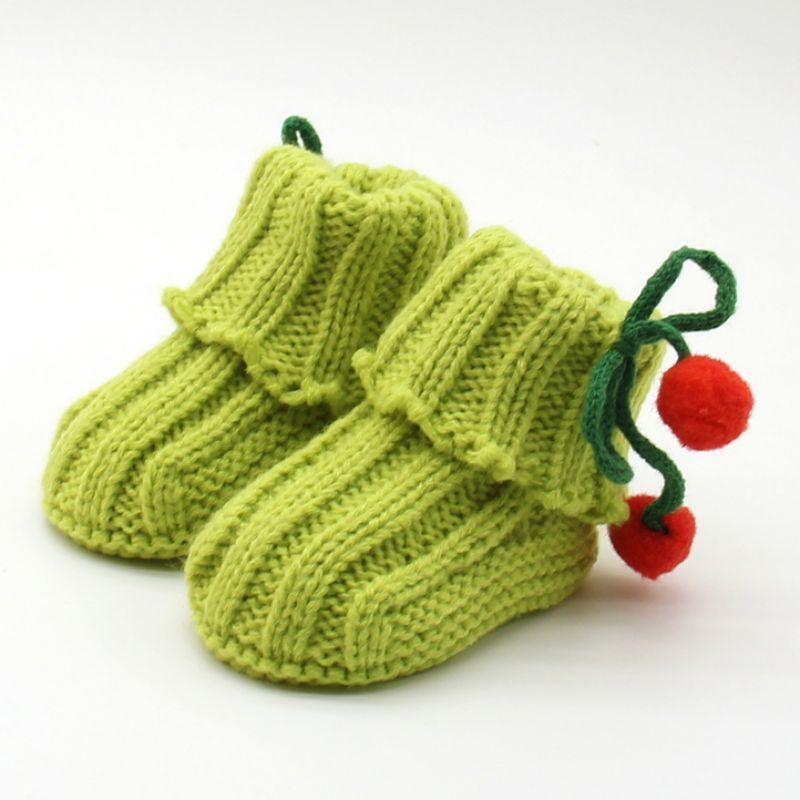 4e9e4ccbe10 Newborn Infant BebeToddler Girls Winter Warm Crochet Knit Fleece Booties  Newborns Bow Snow Shoes Baby Walker Crib Boots
